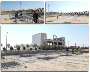 پیشرفت جدیدترین پروژه شهرداری صالحیه / عملیات اجرای شناژ و فونداسیون دومین سوله مدیریت بحران در حال انجام است