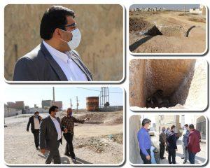 بازدید خارج از نوبت شهردار صالحیه از محلات کم برخوردار خیابان شهید نقاوت
