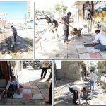 ساماندهی و بازسازی کفپوش مسیر پیاده ابتدای خیابان ولی عصر(عج)