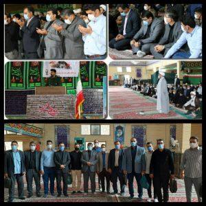 حضور شهردار وجمعی از مدیران و کارکنان شهرداری صالحیه در نماز عبادی- سیاسی روز جمعه