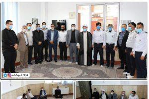 تجلیل دوباره از آتشنشانان شهرداری صالحیه با حضور امام جمعه بخش گلستان