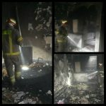 عصر امروز خانه ای در صالحیه به آتش کشیده شد