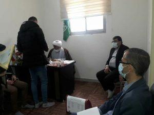 ملاقات مشترک دکتر حاج حسن نوروزی و مهندس آگاهی مند شهردار صالحیه با جمعی از صاحبان رجوع