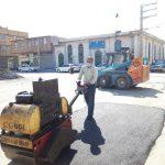 اجرای عملیات لکهگیری و ترمیم آسفالت خیابان 20متری شهید غلامی