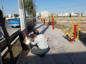 نگهداری بهینه و مستمر مبلمان و تجهیزات شهری