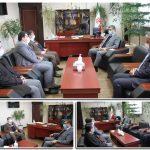 دیدار شهردار و اعضای شورای اسلامی شهر صالحیه با فرماندار جدید شهرستان بهارستان