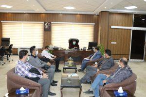 جلسه شهردار صالحیه با پیمانکاران پروژه های شهری برگزار شد