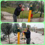 ساماندهی و ایمن سازی ست های ورزشی بوستان نهج البلاغه