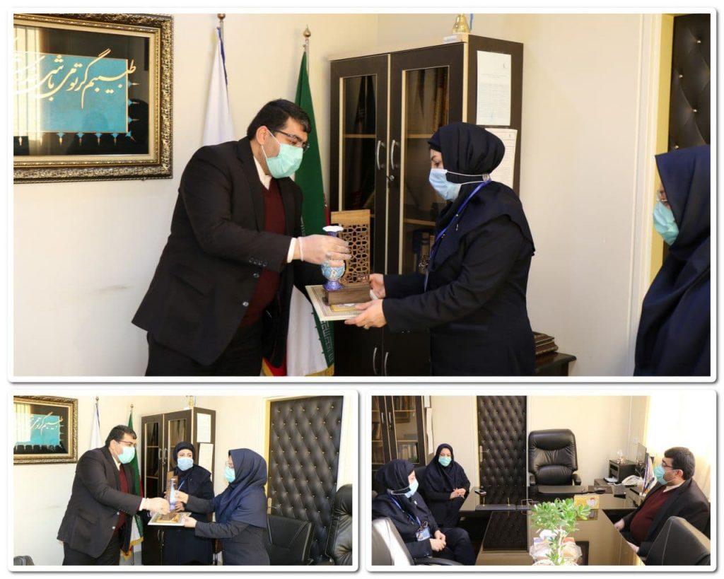 تقدیر شهردار صالحیه از پرستاران بیمارستان امام حسین (ع) شهرستان بهارستان