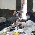مشارکت رئیس شورای اسلامی صالحیه در مرحله دوم اهداء خون