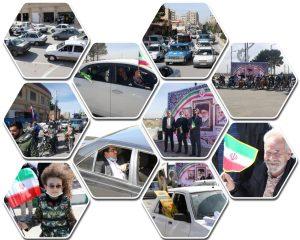 میزبانی شهرداری صالحیه در منزل آخر از راهپیمایان خودرویی و موتوری شهرستان بهارستان