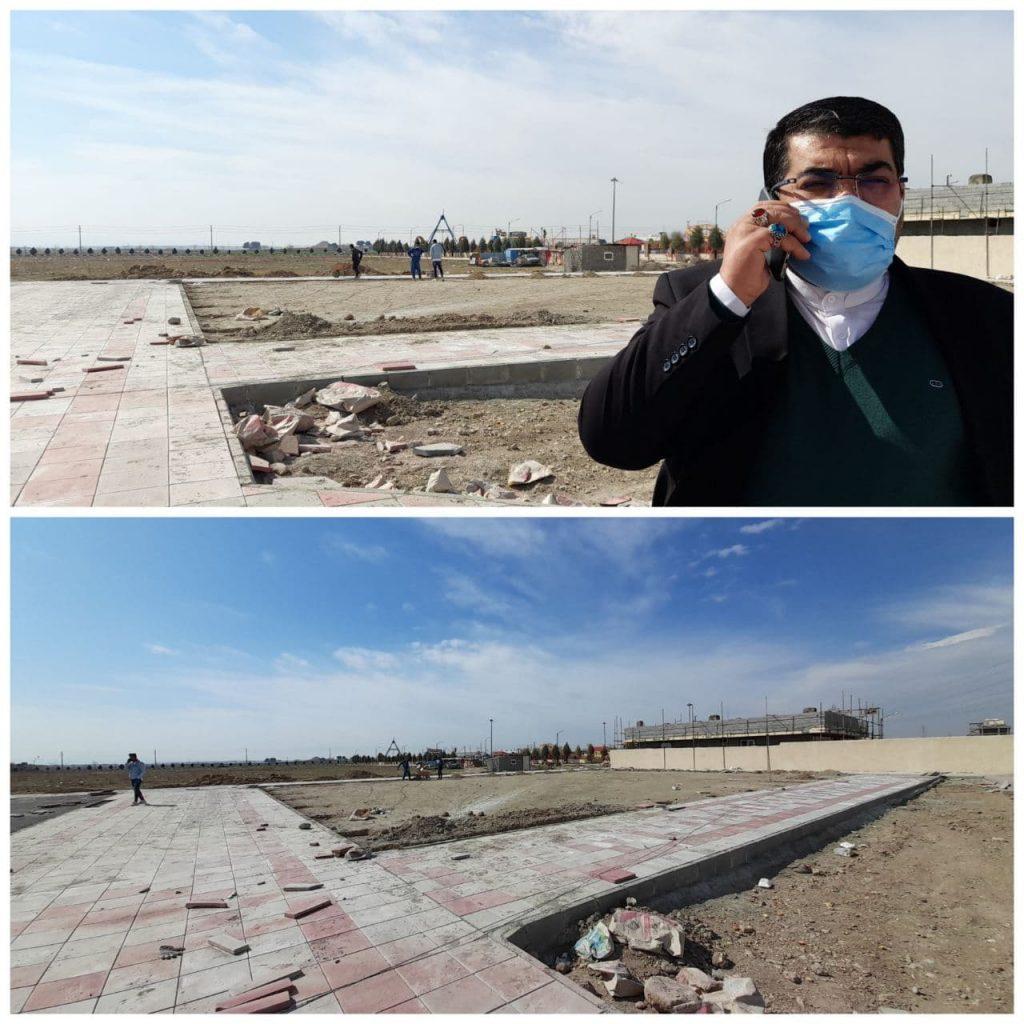 آماده سازی سومین زمین چمن مصنوعی شهر صالحیه
