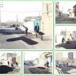 ترمیم و بازسازی خرابی های کوچه ده متری گلستان