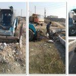 عملیات پاکسازی فاز سوم پارک خطی نهج البلاغه از ضایعات و نخاله های ساختمانی