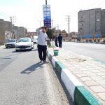 رنگ آمیزی سرتاسری جداول بلوار حضرت ولیعصر(عج)
