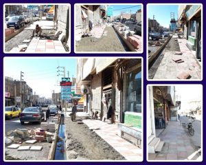 بازسازی کفپوش های خیابان شهید بختیاری