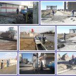 نصب پل های دسترسی به معابر جدیدالاحداث شهر صالحیه