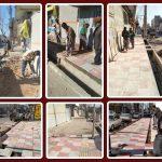 شروع ساماندهی مسیرهای پیاده محلات شهر صالحیه