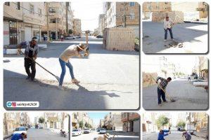 اجرای فاز نهایی ساماندهی معابر شهر صالحیه پیش از آغاز سرما و نزولات جوی