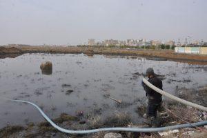 بارش باران و سریال تکراری هدایت آب های سطحی کوی گلستان به خیابان سی متری ولی عصر (عج) صالحیه