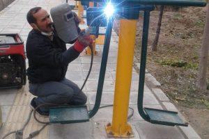 ایمن سازی وسایل بازی و امکانات عمومی در بوستانهای شهر صالحیه