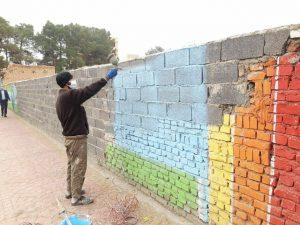 فرآیند رنگ آمیزی جداره های شهری آغاز شد