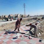 عملیات خشکه چینی پیرامون چهار پروژه مهم شهری