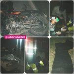 کورس با مرگ / دو فوتی حاصل تصادف مرگبار موتورسیکلت با پیکان وانت در صالحیه