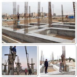 بتن ریزی سازه های اولین دارالقرآن شهرستان بهارستان