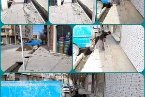 عملیات خشکه چینی خیابان شهیدان جهان آرا و درهم پور آغاز شد