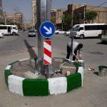 محیط پیرامون دکل خیابان شهداء ایمن سازی شد