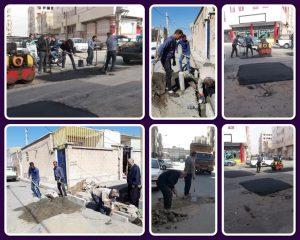 اجرای زیرسازی بخش های فرسوده آسفالت خیابان شهید کشوری و بازسازی جداول کوچه اردیبهشت سوم خیابان شهید نقاوت
