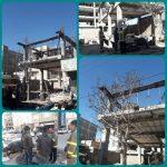 جراحت شدید کارگر ساختمانی بر اثر برق گرفتگی